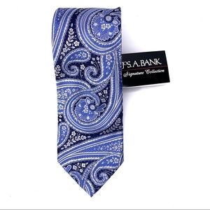 JOS. A. BANK Signature Collection Blue Paisley Tie